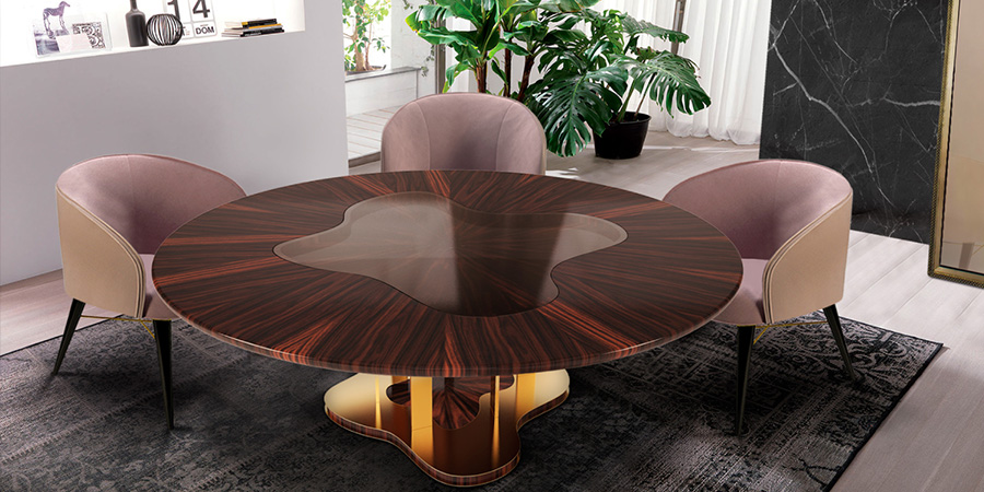 round dining tables by porus studio breath out creativity. Black Bedroom Furniture Sets. Home Design Ideas