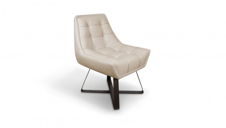 Kubrick Dining Chair in white leather