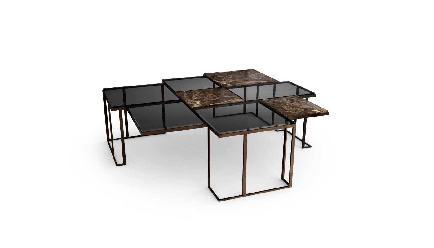 Square Modern Center Table by Porus