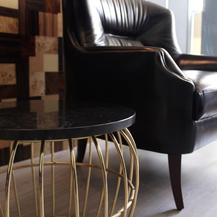 Albany Side Table in Showroom