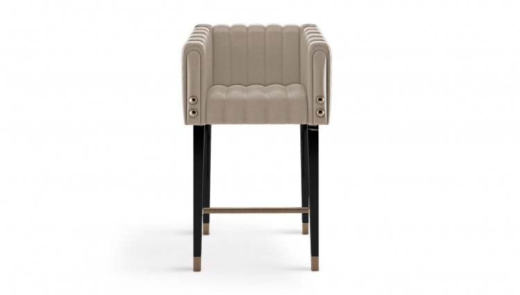 Inglewood Bar Chair in white leather