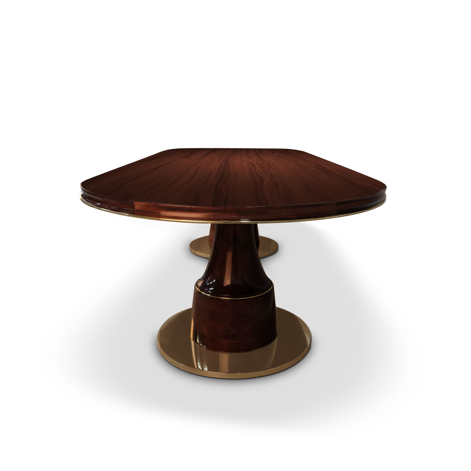 Buck oval dining table