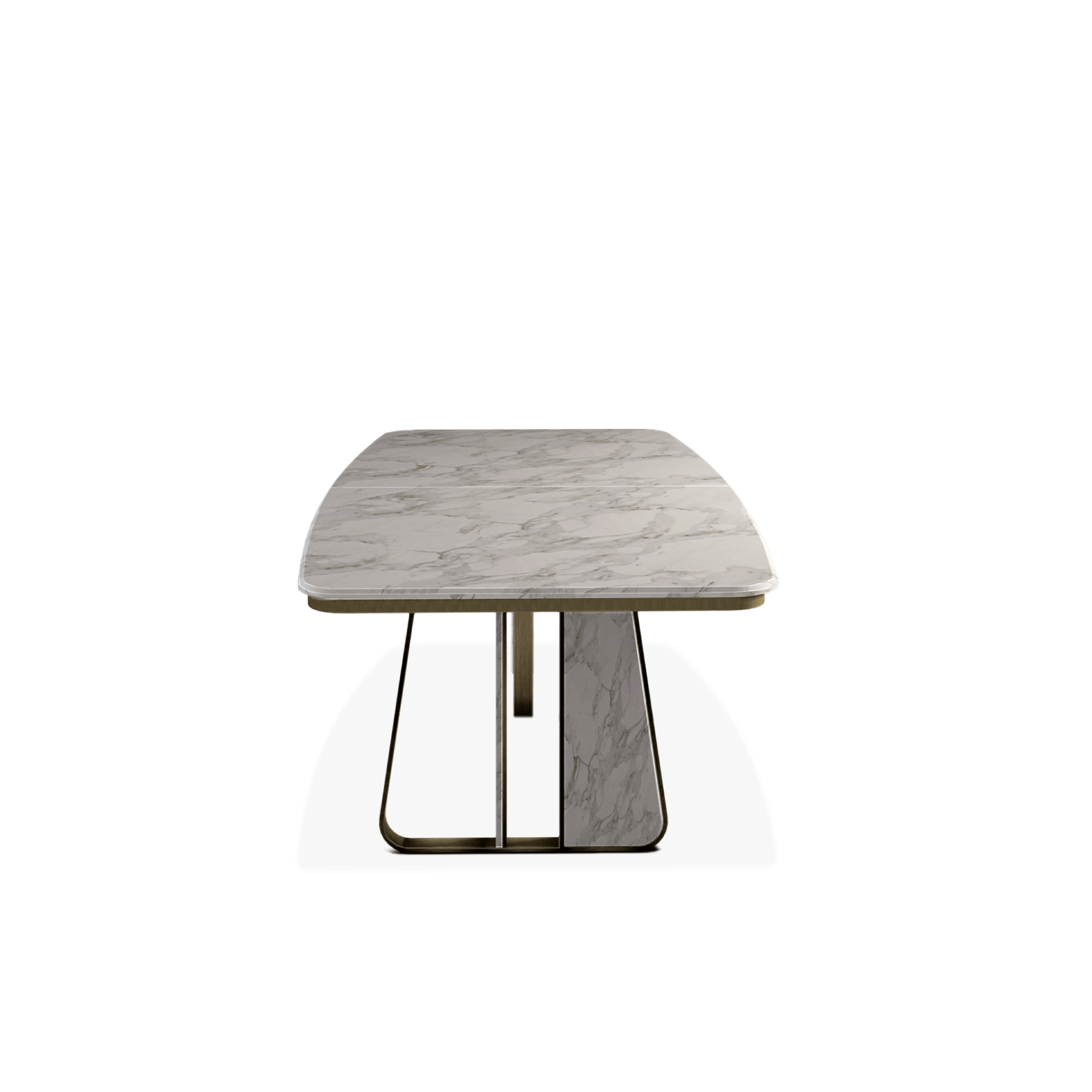 Kenai Dining Table featuring Carrara Marble