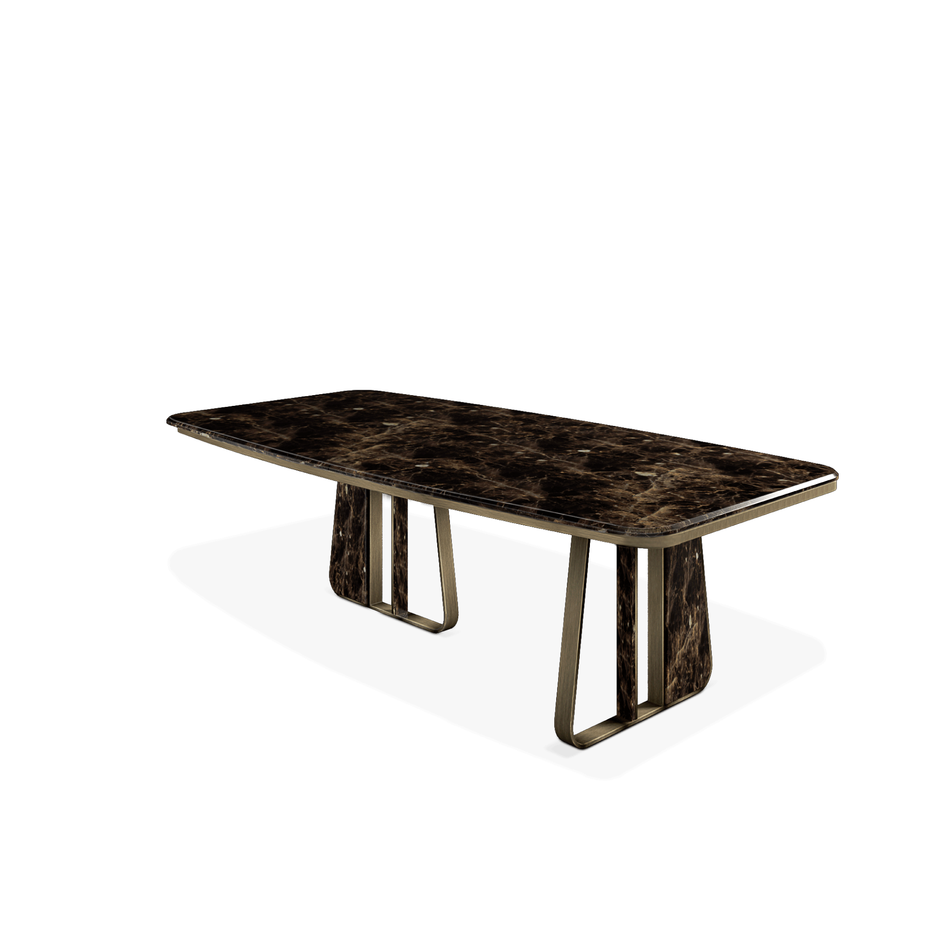 Kenai Dining Table featuring Black and Gold Marble