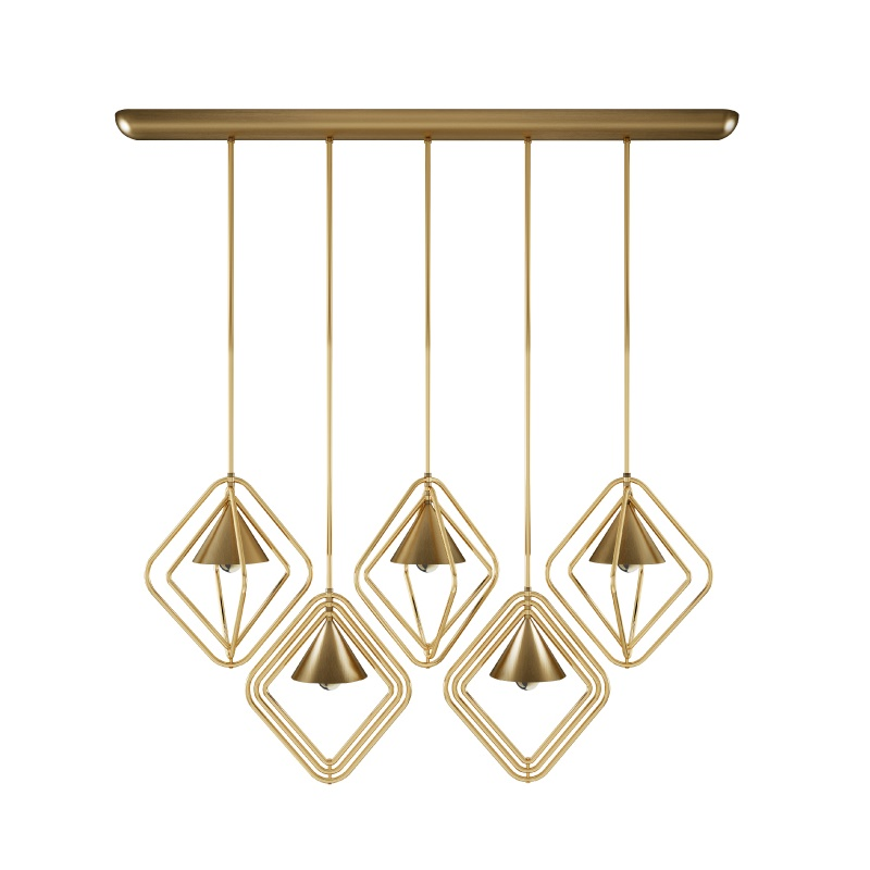 Decor Trends - Brass - Portman Suspension Lamp
